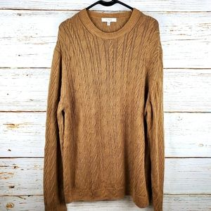 Turnbury Tan Cable Knit Sweater